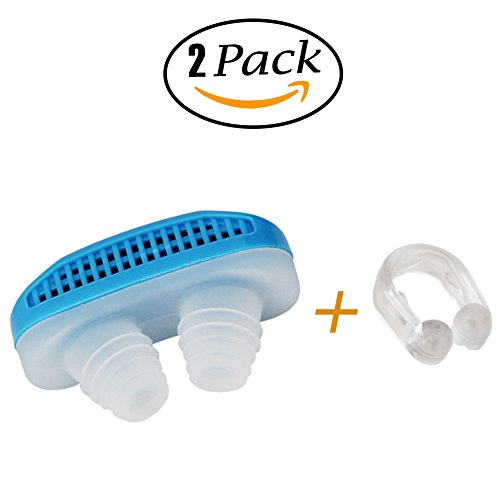 Anti-Snoring Device:Sleep Aid- 50% OFF SALE Airing,2 Pack of Silicone Air Purifier Filter Snore Stopper Device Chin Strap,Stop Snoring,Get the Restful Night you Deserve,with Travel Case -Yamissi by Yamissi (Image #3)