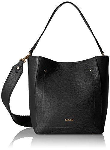 Calvin Klein Lynn Pebble Hobo Hobo Bag, BLK/GOLD, One Size Calvin Klein Hobo Bag