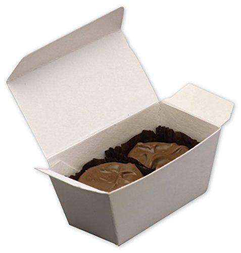 Food & Gourmet Boxes - White Two-Piece Ballotin Boxes, 3 x 1 7/16 x 1 1/2