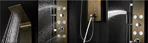 Acero inoxidable panel de ducha boquillas de masaje remoto de ...