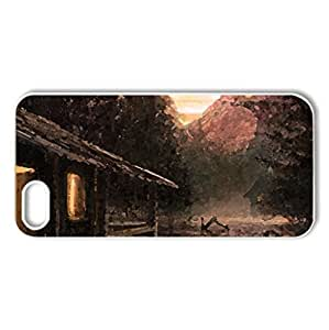 My Own Paradise - Case Cover for iPhone 5 and 5S (Watercolor style, White)