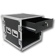 Seismic Audio - 10 SPACE RACK CASE WITH 3U LOCKING DRAWER Amp Effect Mixer PA/DJ PRO