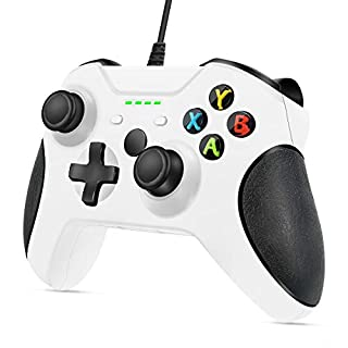 Controller for Xbox One, VOYEE Enhanced Wired Controller for Microsoft Xbox One (White)