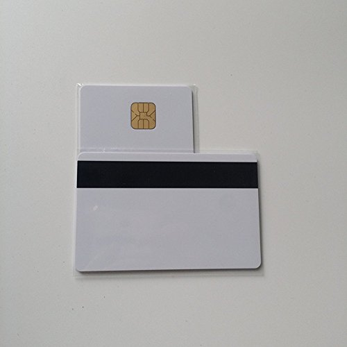 - 50PCS Magnetic Stripe Card Inkjet Contact IC Card with 4428 Chip Blank Inkjet PVC Card