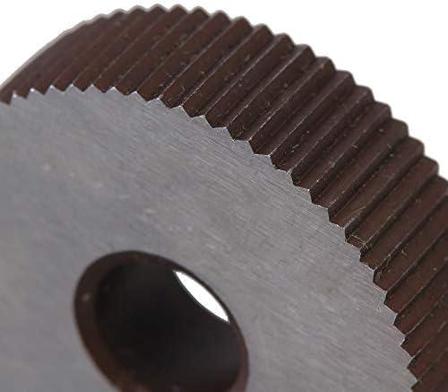 No Logo Rändelfräswerkzeuge 2ST Stärke Wälzfräser Straight Grain 1.0mm Rad Knurl HSS Rad Knurled Werkzeugmaschinen Zubehör Dreh Prägeradabschnitt Hebt für Metalldrehmaschine