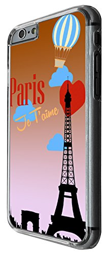 1555 - Cool trendy fun cute travel world tourist eiffel tower heart valentines day Paris Je T'aime Design iphone 5 5S Coque Fashion Trend Case Coque Protection Cover plastique et métal - Clear