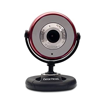 Gear Head USB 2 0 1 3 MP Webcam for PC (WC750RED-CP10)