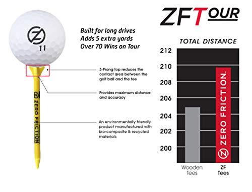 Zero Friction Tour 3-Prong Golf Tees
