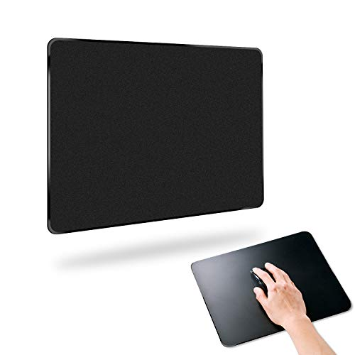 Mooseng, Hard Gaming Mouse Pad with Enhance Precision, Fast and Accurate Control, Smooth Plastic Surface and Flat Mouse Mat, Non-Slip Rubber Base Mousepad for Laptop, Computer & PC, Black