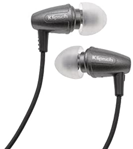 Klipsch Image S3 Noise-Isolating Earphones with Patented Oval Ear-Tips (Graphite Grey)