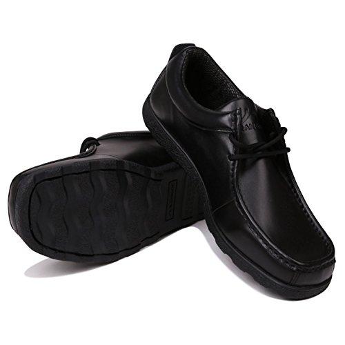 Kangol Waltham Lace Herren Schuhe Moc Toe Formell Smart Halbschuhe Schnürer Schwarz