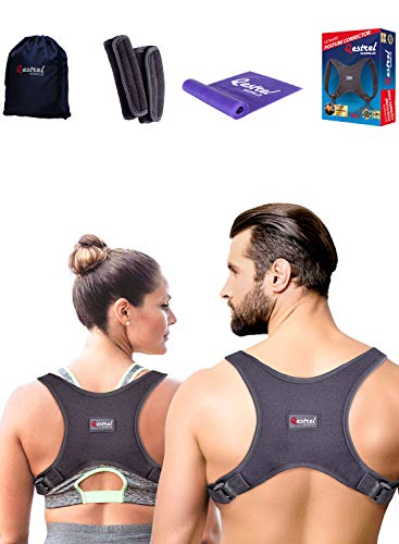 Back Straightener Posture Corrector for Women and Men - Shoulder Brace Back Posture Corrector for Men - Upper Back Support and Neck Pain Relief - Under Clothes Back Brace for Neck  Shoulder