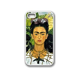 CellPowerCasesTM Frida Kahlo Self Portrait iPhone 4 Case White - Fits iPhone 4 & iPhone 4S