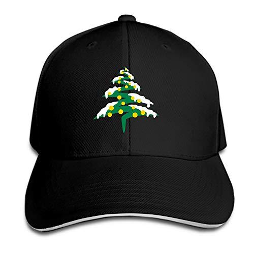 SEVTNY Unisex Snow Christmas Tree Baseball Cap Dad Hat Peaked Flat Trucker Hats