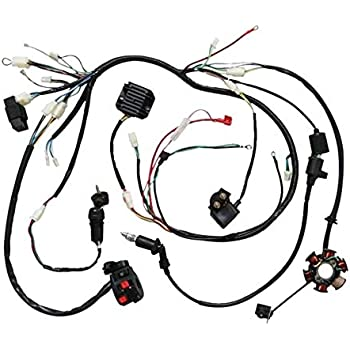 Amazon Com Complete Electric Wiring Harness Kit Coil Cdi For Gy6