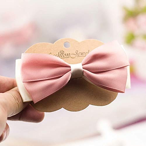 Korea Korea Pink Hair Bow Hair Clips Hair Accessories Collet Chuck top faceplate Hair Coil Twist Hair Jewelry Hairpin Hair pin Comb Claw (Pressure Mouth Pink Folder