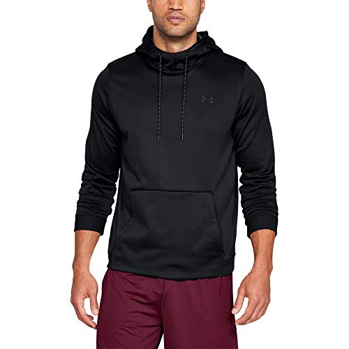 (Under Armour Men's Armour Fleece Pullover Hoodie, Black (001)/Black, Small)
