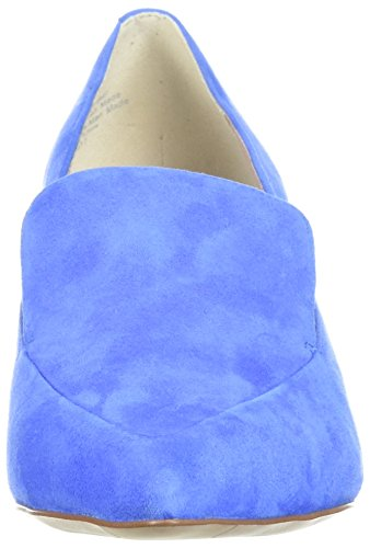 Kenneth Cole New York Womens Shea Puntige-kat Kitten Hakken Loafer Pomp Cerulean
