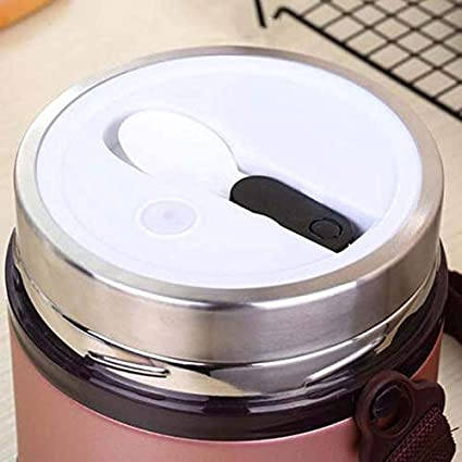 DUDDP Thermos per Alimenti Lunch Box Vacuum Insulated 2 Tier Flacone per Alimenti//zuppa a Prova di perdite con Apertura Extra Ampia e 2 Scomparti Colore : Local Gold