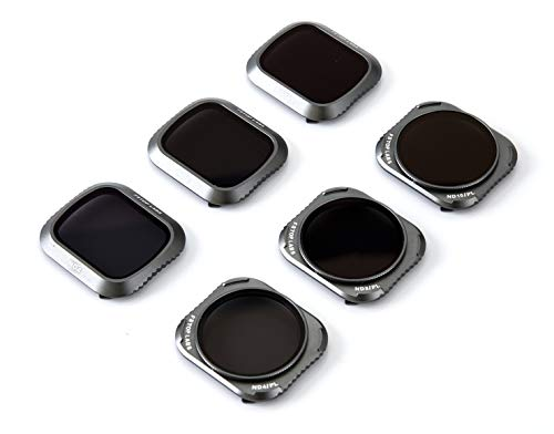 (Lens Filters for DJI Mavic 2 Pro Camera Lens Set, Multi Coated Filters Pack Accessories (6 Pack) ND4, ND8, ND16, ND4/CPL, ND8/CPL, ND16/CPL, Upgraded: Works with Gimbal Cover)