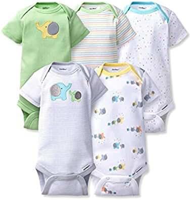 Gerber Baby 5 Pack Onesies (newborn, elephants)