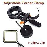 JohnnyBui - Quick Adjustable Corner Clamp Strap Blet Corner Clamps for Woodworking Po Frame Tools Multifunction Blet Clamp DIY Tool