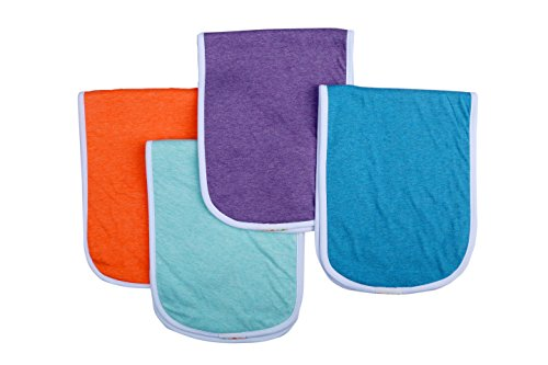 Burp Cloth Tutorial (Bum Chicoo Unisex Baby Muslin Burp Cloths made from Organic Cotton, Set of 4 (Color 2))