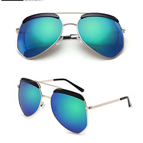 luz la sol Gafas la polarizada la la Gafas irregular protección de Gafas la de la de de personalidad sol de sol aire de 02 moda lib pareja al viaje de de definición de de de alta ZHIRONG las sol gafas de SfXx7aqwS