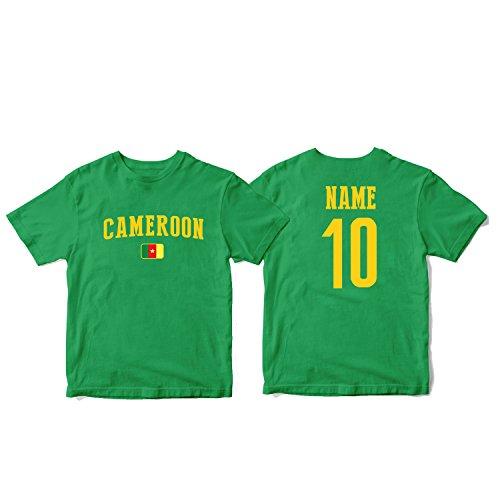 (nobrand Cameroon Men's National Pride Man Soccer Flag Team T-Shirt (Men Green(2) L))