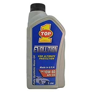 TOP1OIL EVOLUTION Fully Synthetic Passenger Car Motor oil 10W60 API SN (1 Liter)