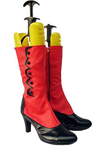 Butler Noir Kuroshitsuji Madame Rouge Cosplay Chaussures Bottes Faites Sur Commande