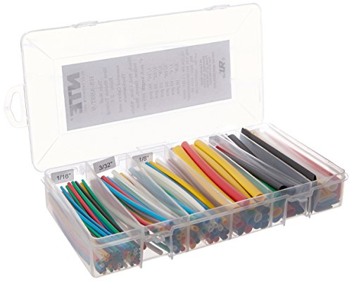 NTE Heat Shrink 2:1 Assorted Colors and Sizes 160 PCS ()
