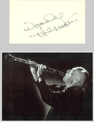 Woody Herman Signed Card with Photo