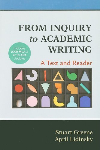 from inquiry to academic writing a text and reader online Rent textbook from inquiry to academic writing: a text and reader by greene, stuart - 9781457653445 price: $1657.