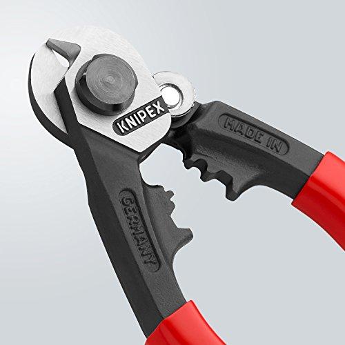 Knipex 95 61 190 Coupe-câble acier avec deux profils de sertissage