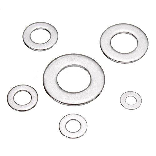 Pack de 200 SODIAL Rondelle Metrique Mixte M3 M4 M5 /& M6 Forme A Rondelles plates epaisses en acier inoxydable