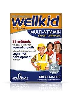 Vitabiotics Wellkid Vitaminas Masticables, Hierro Y Minerales, Más Ácidos Grasos Omega-3 (