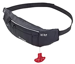 Onyx M-24 Manual Inflatable Belt Pack Life Jacket, Black