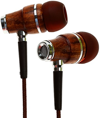 Symphonized NRG Premium Genuine Wood In-ear Noise-isolating Headphones with Microphone (Brown)