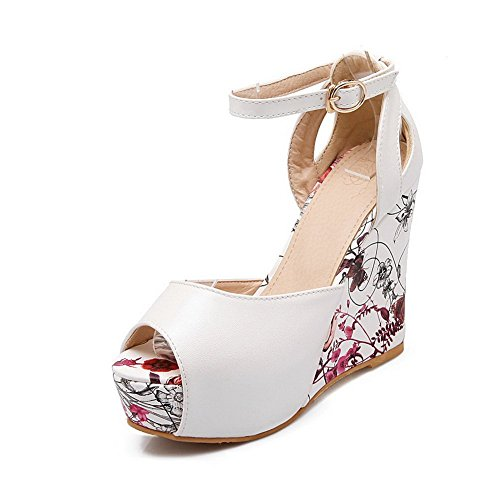 Animal Material Soft Assorted Ladies White BalaMasa Color Sandals Print YxS5wXa