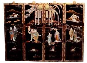 Amazon Com Oriental Black Lacquer Wood Wall Panels