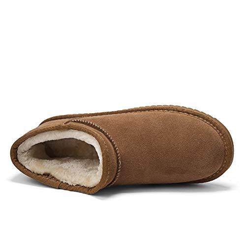 Et Bottes Imperméables Bottines Chaussures Doublées Chaudes Sneakers Hommes De Neige Noir Pour D'hiver Fourrure rXCqwFrPx