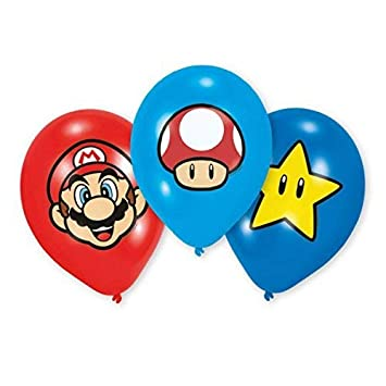 Super Mario Bros Globos Decorativos Para Fiestas Y Cumpleanos