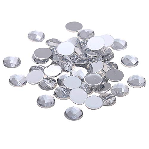 Kamas Crystal Clear Color Many Sizes Flat Back Round Earth Facets Acrylic Rhinestone For Nails Beads 3D Nail Art Jewelry Decorations - (Color: 18mm 100pcs) ()
