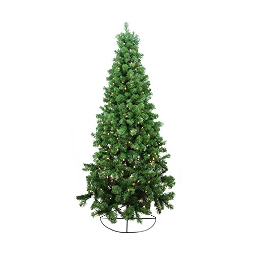 Northlight Pre-Lit Pine Artificial Wall Christmas Tree with Clear Lights, (Pre Lit Wall)