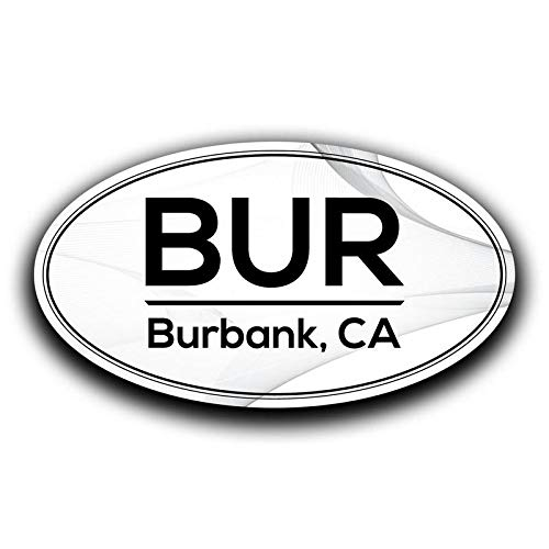 More Shiz BUR Burbank California Airport Code Decal Sticker Home Travel Car Truck Van Bumper Window Laptop Cup Wall MKS0549 Two 5.5 Inch Decals