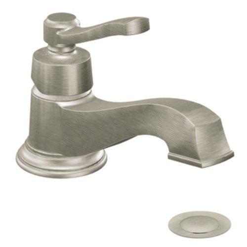 (Moen S6202BN Rothbury One-Handle Low Arc Bathroom Faucet, Brushed Nickel by Moen)