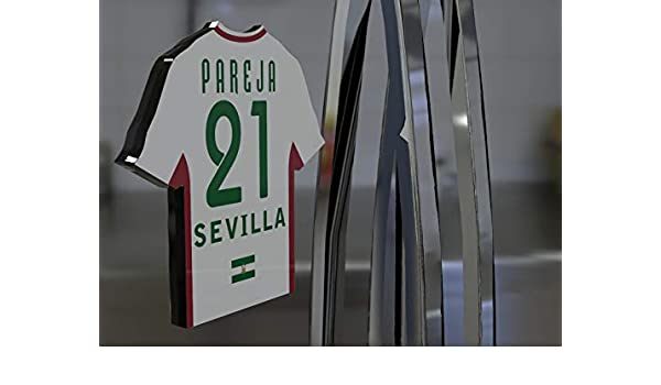 Imán para frigorífico con diseño de camiseta de fútbol de la primera división de la Liga Española, material acrílico, personalizable, plástico, Sevilla Fc ...