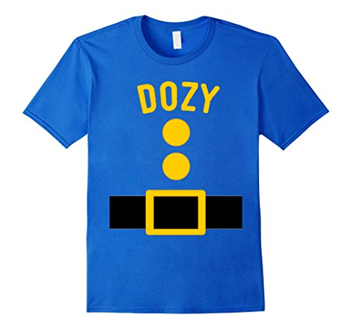 Seven Dwarfs Costume Accessories (Mens Dozy Dwarf Costume T-Shirt Funny Halloween Gift 2XL Royal Blue)
