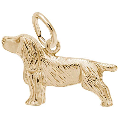 Rembrandt Charms Springer Spaniel Charm, 10K Yellow Gold - Gold Spaniel Charm